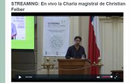 STREAMING: En vivo la Charla magistral de Christian Felber
