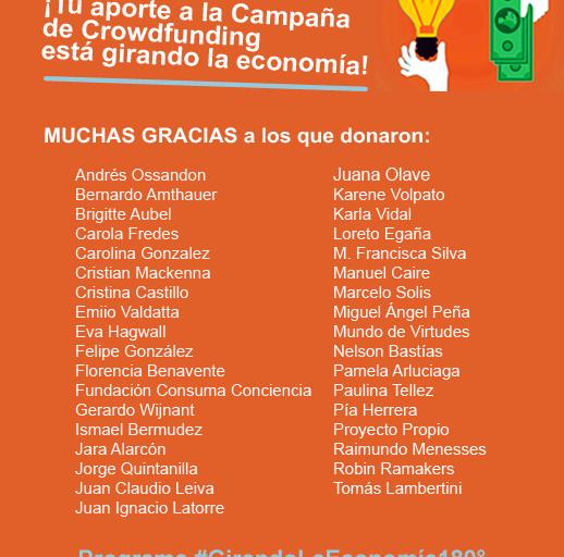 ¡Tu aporte a la Campaña de Crowdfunding está girando la economía!