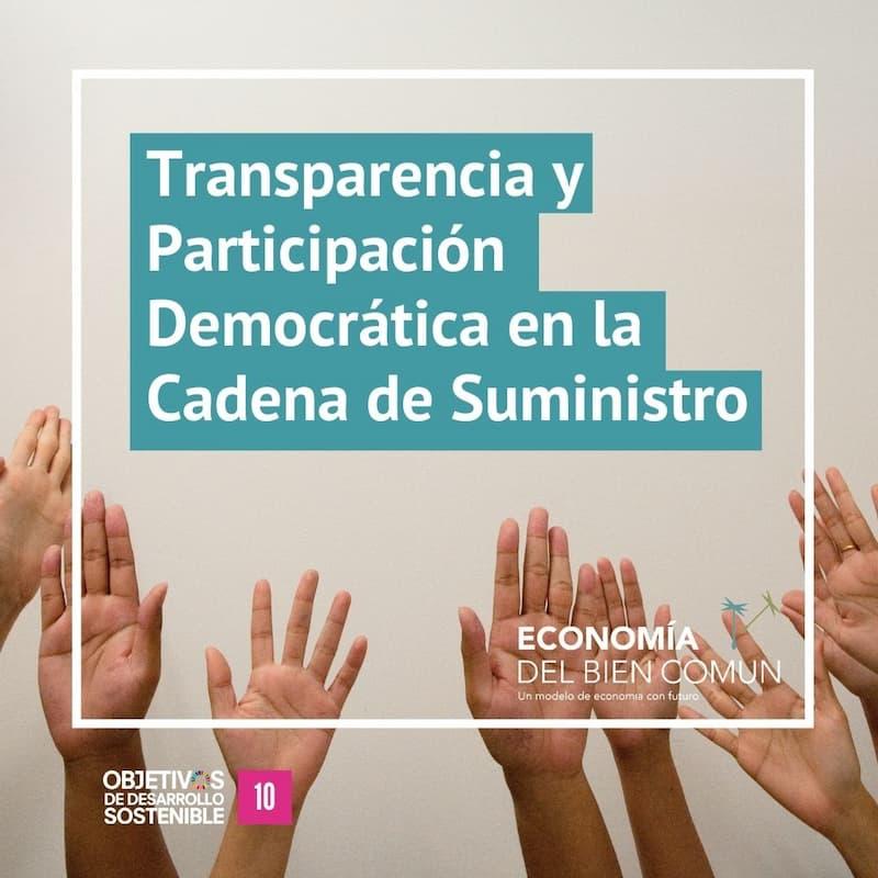 Transparencia y participación ciudadana en la cadena de suministro