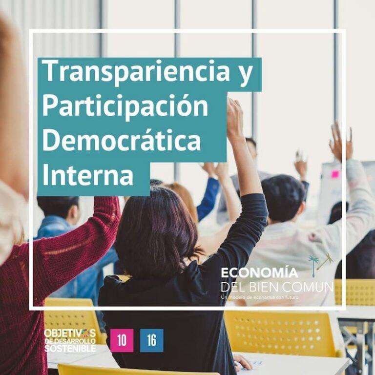 Transpariencia y participación democrática interna