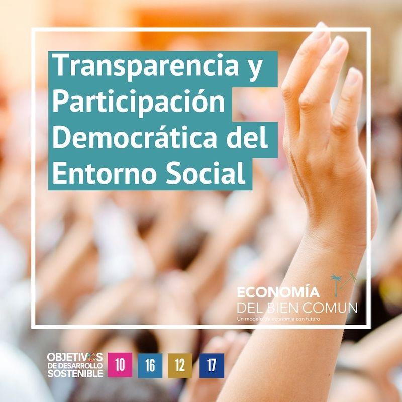Transparencia y participación democratica del entorno social